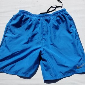 Mens dry fit running/workout shorts blue size m